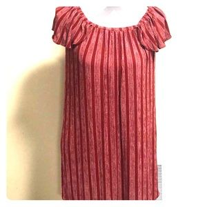 Everly Striped Peasant Style Mini Dress Size Small